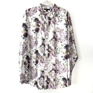 I.N.C. Floral Button Down Shirt Size XL